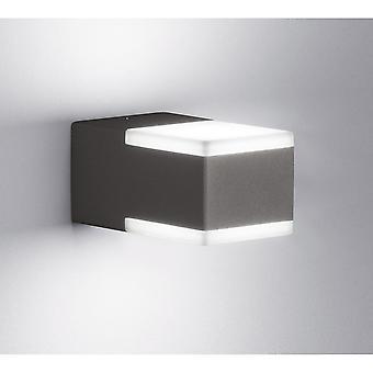 Lampada da parete in alluminio pressofuso a Trio illuminazione Don moderno antracite