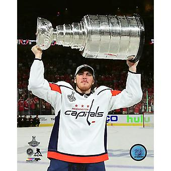 TJ Oshie with the Stanley Cup Championship Trophy Game 5 of the 2018 Stanley Cup Finals Photo Print