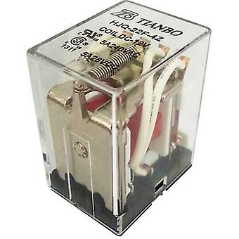 Tianbo Electronics HJQ-22F-4Z -12VDC Plug-in relay 12 Vdc 5 A 4 change-overs 1 pc(s)