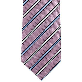 Michelsons of London Even Stripe Polyester Tie - Pink