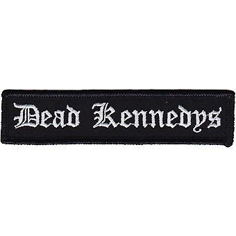 Dead Kennedys noir et blanc écrit sur tissu / coudre brodé Patch