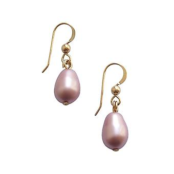 Gemshine - ladies - earrings - beads - rose - Lavender - dripping - gold plated - 11 mm
