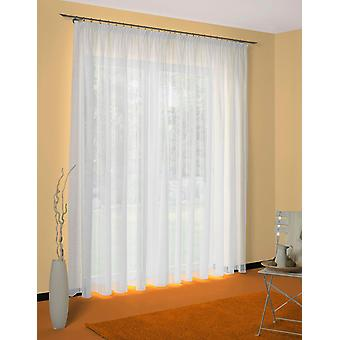 «Wirth curtain Voile store» Landshut «white folds band (1 piece) H/W 120 450 cm».