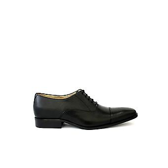 Handcrafted Premium Leather Erskine Black Leather Oxford