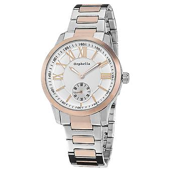ORPHELIA Mens Analogue Watch Fine craft Silver/Rose Gold Stainless steel 122-8704-82