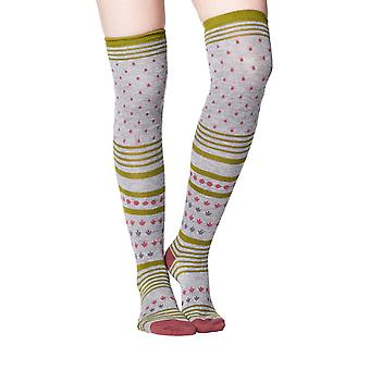 Esana women's soft bamboo over-the-knee socks in grey | By Thought