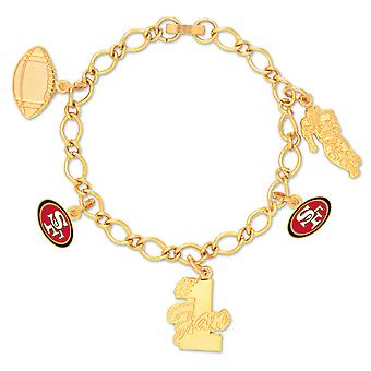 Wincraft ladies of charms bracelet - NFL San Francisco 49ers