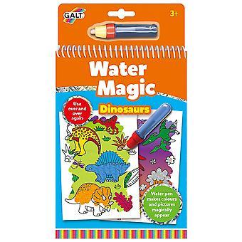 Galt água mágica dinossauros, livro de colorir para crianças