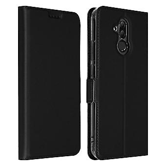 Slim flip wallet case, Business series for Huawei M20 Lite - Black