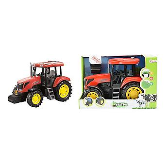 Toi Toys Tractor DeLuxe rood met L/G