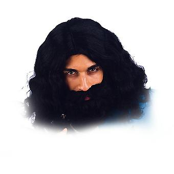 Wig with beard musketeer King wig men