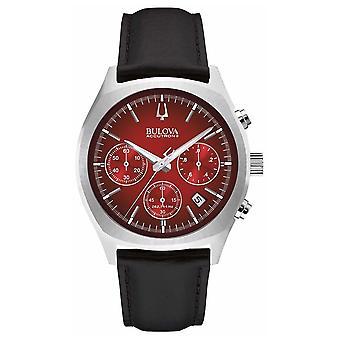 Bulova Accutron II van Mens rode Chronograph dag datum 96B238 Watch