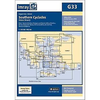 Imray Chart G33 - Southern Cyclades (West Sheet) by Imray Chart G33 - S