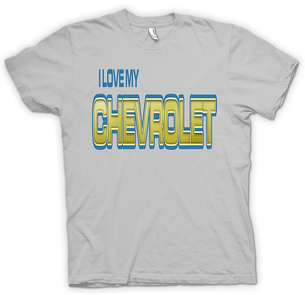 Mens T-shirt - I Love My Chevrolet - Car Enthusiast