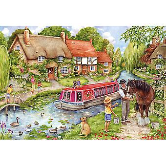 Gibsons Drifting Downstream Jigsaw Puzzle (500 pieces)