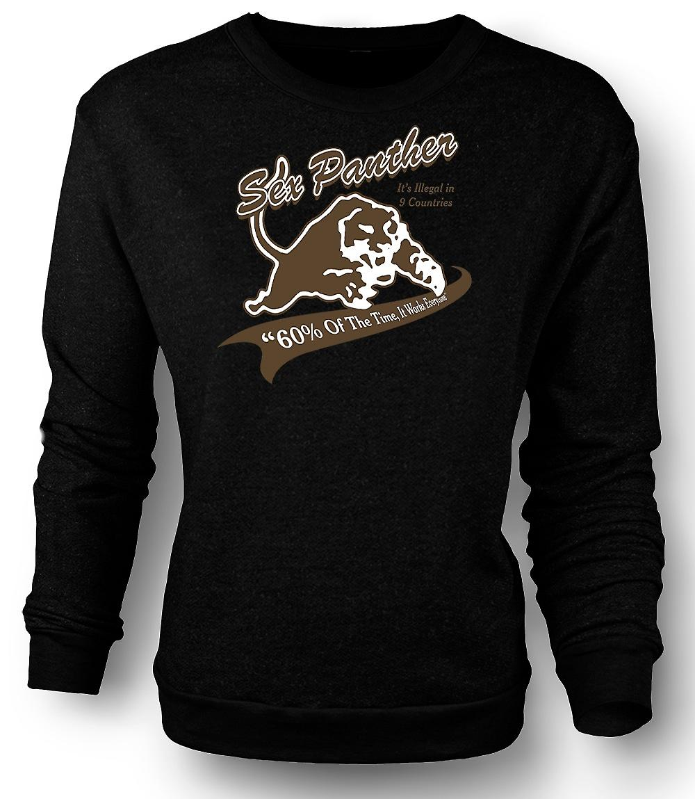 Mens Sweatshirt Anchor Man - Sex Panther - rolig
