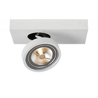 Lucide Nenad Ar111 moderne rektangel aluminium White tak Spot lys