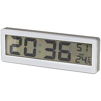 TechBrands LCD Clock w/ Thermometer