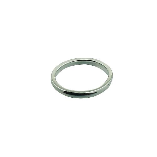 Silver 2mm plain Court shaped Wedding Ring Size P