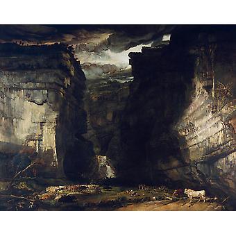 Gordale Scar,James Ward,50x40cm