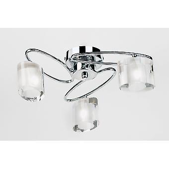 Sonate Flush plafondlamp van Indoor Semi - Endon 91183