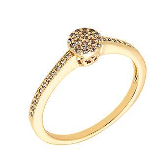 Bertha Sophia Collection Women's 18k YG Plated Stackable Pave Fashion Ring Size 8