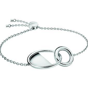 Calvin Klein Silver Plated Stainless Steel Ladies bloccato Bracelet kj8gmb000100