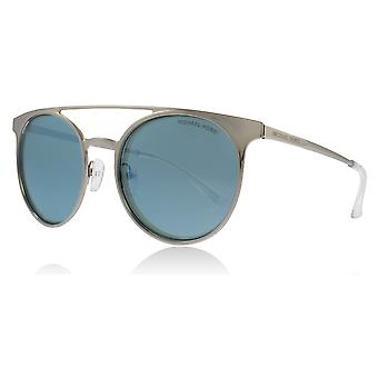 Michael Kors MK1030 113725 Shiny Silver Grayton Round Sunglasses Lens Category 3 Lens Mirrored Size 52mm