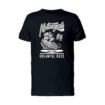 Motorrad-rechtswidrige Rennen T-Shirt Herren-Bild von Shutterstock