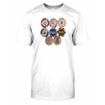 Poker Chips From Las Vegas Casinos Mens T Shirt