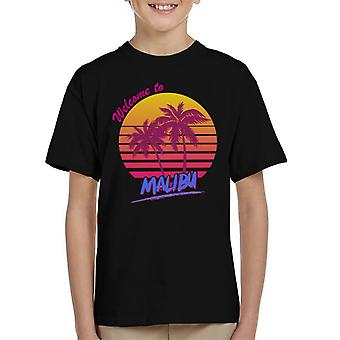 Welcome To Malibu Retro 80s Kid's T-Shirt