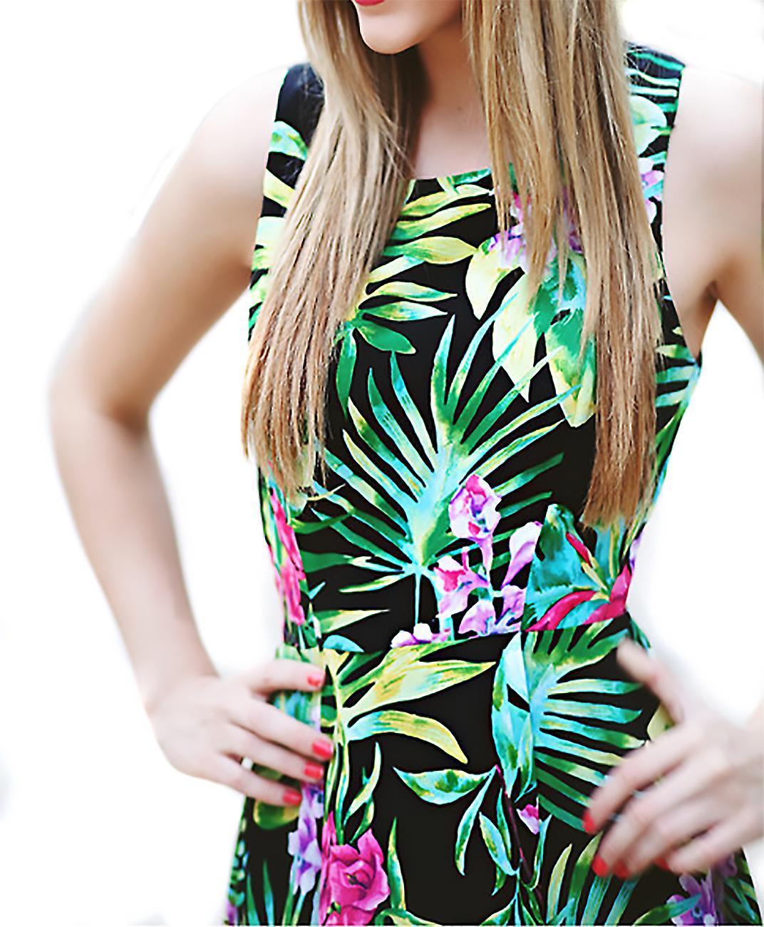 Curie little summer dress tropical motif