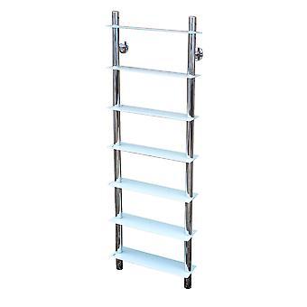 Splash - Wall Mounted Glass Bathroom Storage Shelves - White