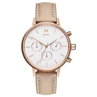 MVMT Nova Luna Damen Uhr Armbanduhr Leder FC01-RGNU