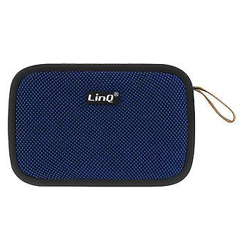 LinQ Wireless Bluetooth Speaker 4,2 USB micro-USB-kaart FM radio blauw
