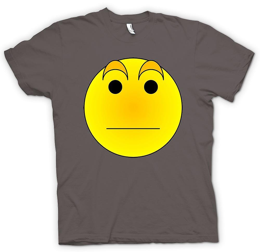 mens t shirt smiley face eyebrows acid house fruugo. Black Bedroom Furniture Sets. Home Design Ideas