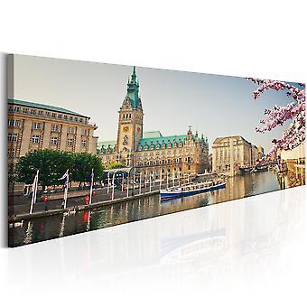 Canvas print-Hamburg stadhuis