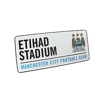 Manchester City FC Etihad Stadium Street Signe