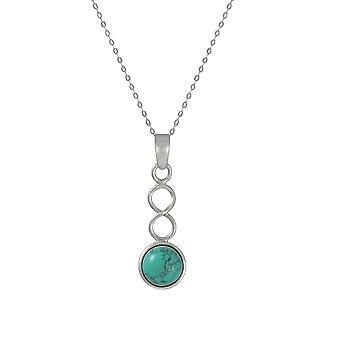 Eternal Collection December Turquoise Birthstone Sterling Silver Pendant
