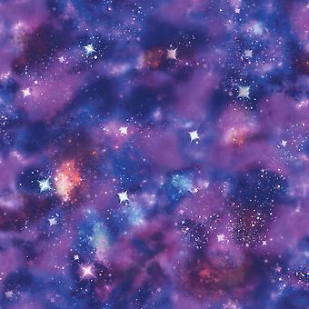 Rasch Nebula Space Pattern Glitter Motif Photographic Mural Fond d'écran 273205