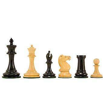 Old English Elite Series Ebony Staunton Chess Pieces 3.5 inches