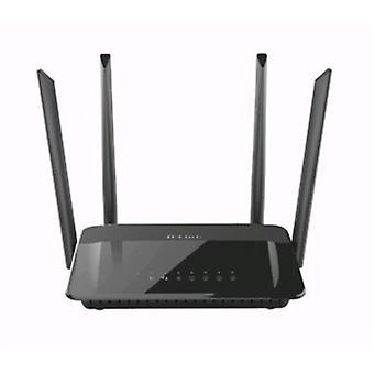 D-link ac1200 dsl router wi-fi dual band gigabit 5 port ethernet black color