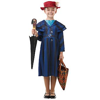 Mary Poppins Returns Deluxe Disney Movie Story Book Week Child Girls Costume