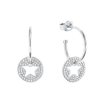s.Oliver Jewel Women's Earrings Hoops Silver Star Zirconia 2026090