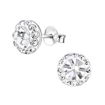 Runde - 925 Sterling sølv Crystal øredobber - W17445X