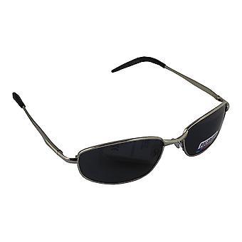 Sonnenbrille Sport Rechteck polarisierend Glas Silber schwarz free BrillenkokerS306_3