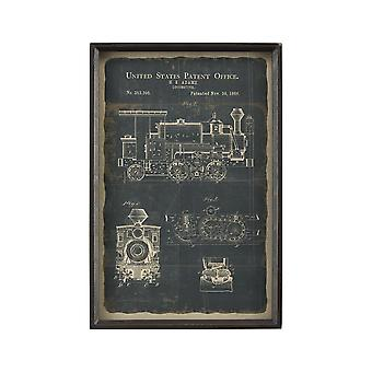 Chronicle framed print - locomotive