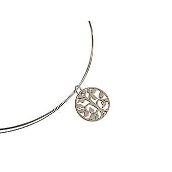 Gemshine plata mujer colgante collar - A543
