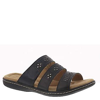 ARRAY Womens Panama Leather Open Toe Casual Slide Sandals