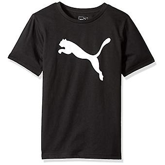 PUMA Big Boys' Graphic Tee, Black, Large (14/16), Puma Black, Size Large (14/16)